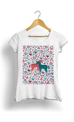Camiseta Horse With flowers