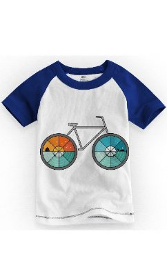 Camiseta Infantil Bicycle
