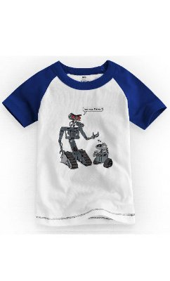 Camiseta Infantil Wall-e