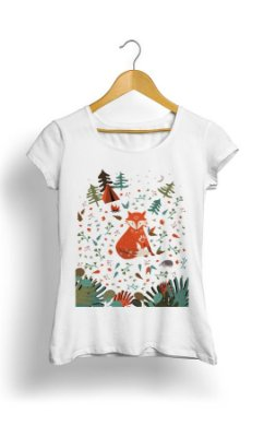 Camiseta Fox in Forest