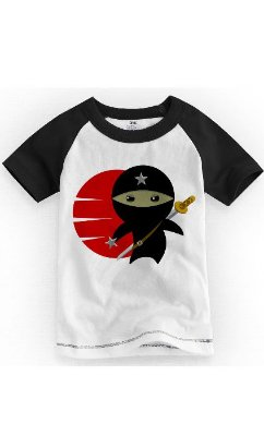 Camiseta Infantil Ninja Star