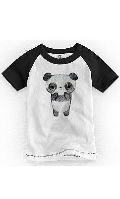 Camiseta Infantil Panda Fofa