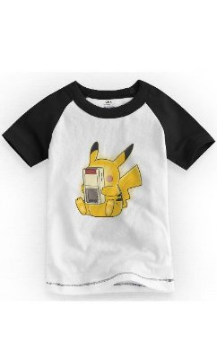 Camiseta Infantil Pikachu