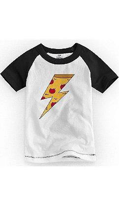 Camiseta Infantil Pizza Raio