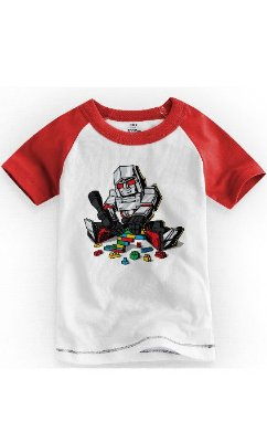 Camiseta Infantil Robô Red