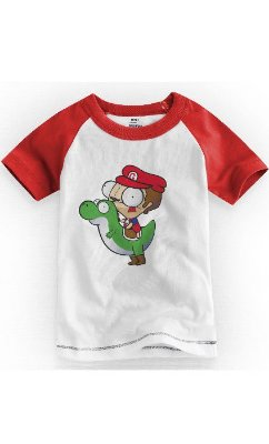 Camiseta Infantil Mario