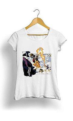 Camiseta Feminina Tropicalli Chrono Hearts
