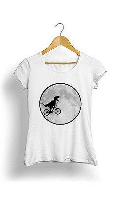 Camiseta Feminina Tropicalli Dinosaur Bike