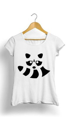 Camiseta Feminina Tropicalli Raccoon Lines