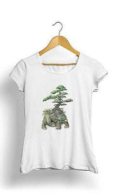 Camiseta Feminina Tropicalli Tartaruga Arvore