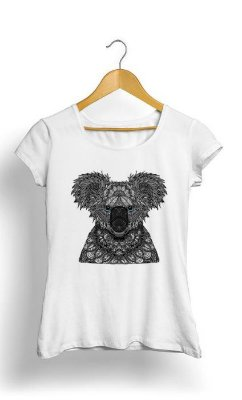 Camiseta Feminina Tropicalli Koala Bear