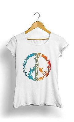 Camiseta Feminina Tropicalli Animal Nature Peace