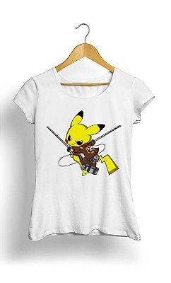 Camiseta Feminina Tropicalli Pikachu Protect