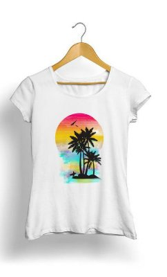 Camiseta Feminina Tropicalli Color of Summer
