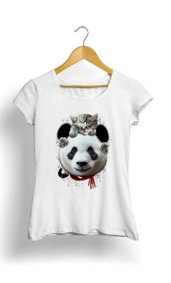 Camiseta Feminina Tropicalli Cat on Panda