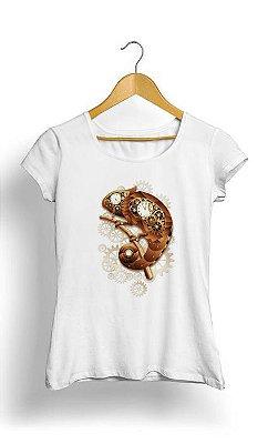 Camiseta Feminina Tropicalli Chameleon Steampunk