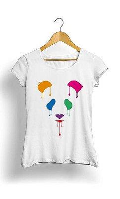 Camiseta Feminina Tropicalli Panda colour