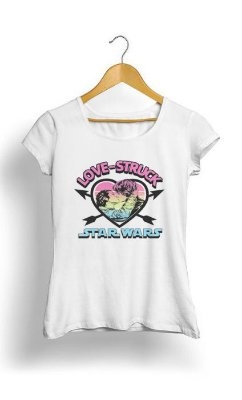 Camiseta Feminina Tropicalli Love Struck Han & Leia