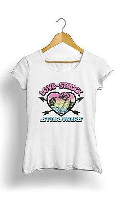 Camiseta Feminina Tropicalli Love Struck Han & Leia