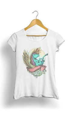 Camiseta Feminina Tropicalli Unicorn Heaven