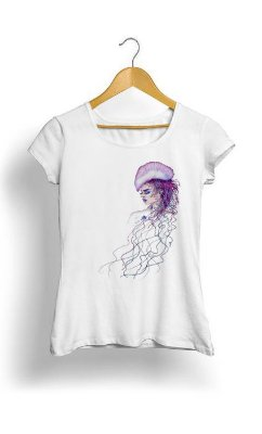 Camiseta Feminina Tropicalli Jellyfish woman