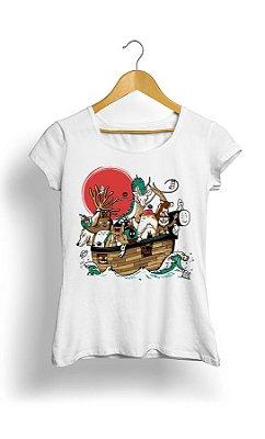 Camiseta Feminina Tropicalli Animals on Board