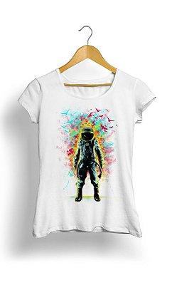 Camiseta Feminina Tropicalli Colorful Birds
