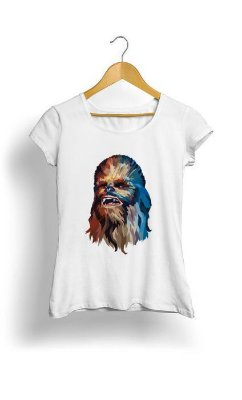 Camiseta Feminina Tropicalli Chewbacca