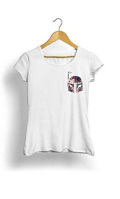 Camiseta Feminina Tropicalli Mini Boba Fett Floral