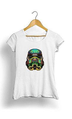 Camiseta Feminina Tropicalli Festive Stormtrooper