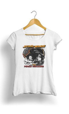 Camiseta Feminina Tropicalli Force Awakens Squared