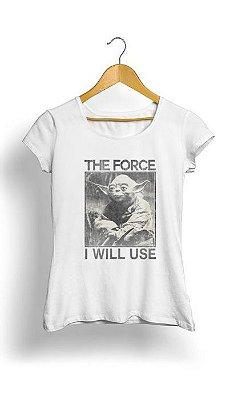 Camiseta Feminina Tropicalli The Force I Will Use