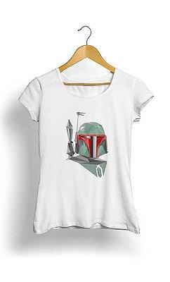 Camiseta Feminina Tropicalli Boba Fett Geometric