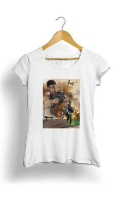 Camiseta Feminina Tropicalli Rey and Finn On The Run