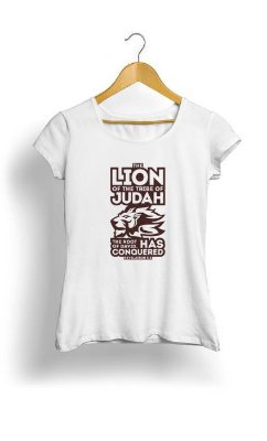 Camiseta Feminina Tropicalli The Lion of the tribe of Judah