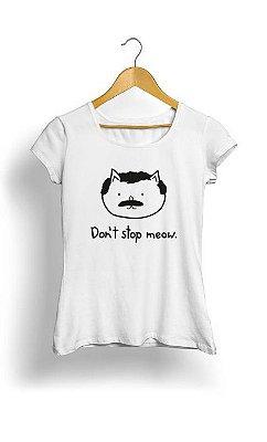 Camiseta Feminina Tropicalli Don't stop meow