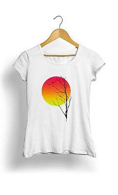 Camiseta Feminina Tropicalli Sunset