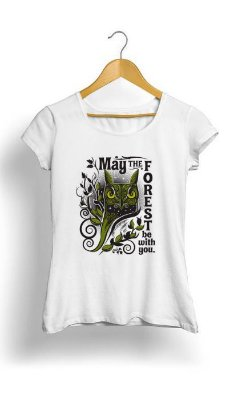 Camiseta Feminina Tropicalli May the Forest Be with You
