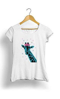 Camiseta Feminina Tropicalli Glitter Giraffe Princess