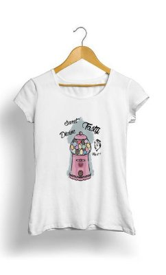 Camiseta Feminina Tropicalli Candy Vintage