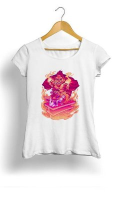 Camiseta Feminina Tropicalli Mario e Princessa