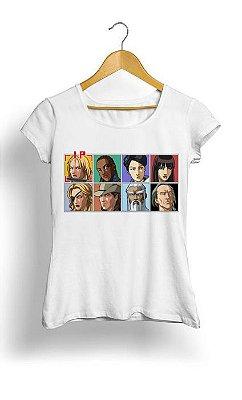 Camiseta Feminina Tropicalli Kill Bill: Arcade Edition HD Remix
