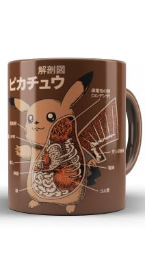 Caneca Pokemon Pikachu Anatomy