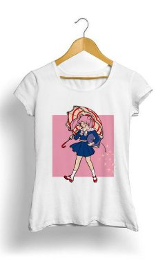 Camiseta Feminina Tropicalli Salty Magical Girl