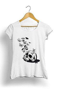 Camiseta Feminina Tropicalli Skull