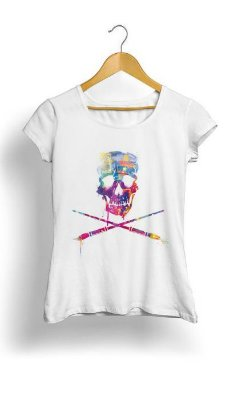 Camiseta Feminina Tropicalli Art Skull