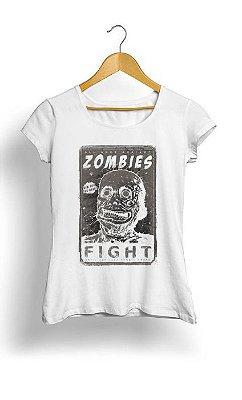 Camiseta Feminina Tropicalli Zombie