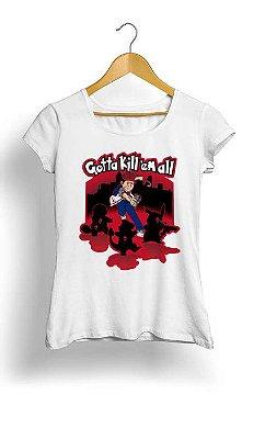 Camiseta Feminina Tropicalli Gotta kill em all