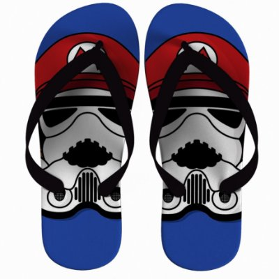 Chinelo Star Wars Super Mario Strompers