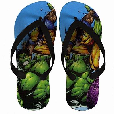 Chinelo Hulk VS Wolverine